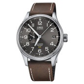 Oris Big Crown ProPilot GMT 748 7710 4063 LS Grey Dial Dark Brown Leather Strap [748 7710 4063 LS]