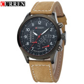 CURREN 8152 Men's Quartz Watches Top Brand Luxury Men Wristwatches Men Military Leather Relogio Masculino Sports Watch