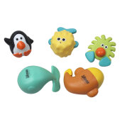 COZIME Jollybaby 5pcs Baby Bath Toys Shower Float Toys Water Squirters for Tub Multicolor