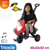 Ocean Toy Ride On Sepeda Gesit - Merah Hitam Red Black