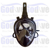 GODIVE Alat Selam 3nd Generation Full Face Mask MF-004-Black - S/M