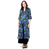 STYLEHAUS Sateen Flower Dress - Blue