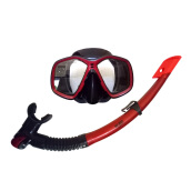 GODIVE Alat Selam Diving Snorkeling Mask & Snorkel Set M276+Box-Red - All Size