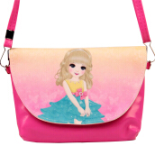 SiYing Cartoon Girl Premium Kids Snack Double Crossbody Bag