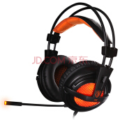 Sades A6 7.1 Channel Headset (Black Orange)