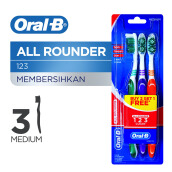 ORAL-B All Rounder 123 Clean Medium 3pcs