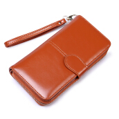 Keness  1616 New Wax Leather Wallet Student Lady Change Holder Long Clutch Retro Card Pack Explosion models Mobile Phone Bag