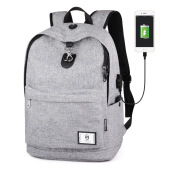 Fireflies Casual Multifunction Travel USB Port Backpack