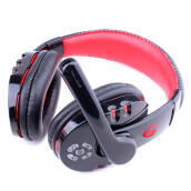 BESSKY Wireless Bluetooth Gaming Headset Earphone Headphone_ Red