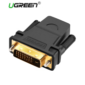 UGREEN High Speed HDMI Female to DVI 24+1 DVI-D Male Adapter Gold Plated Support 1080P for HDTV, Plasma, DVD and Projector