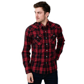 LEVI'S Barstow Western Rebec Caviar Plaid - Red