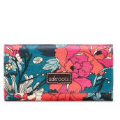 Sakroots Trifold Wallet Teal Flower Power