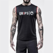 GRIPS Men Tank Top Black