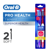ORAL-B Cross Pro-Health 7 Benefit Soft 2pcs (Random Color)