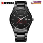 CURREN Top Brand Design Business Quartz Watches Men Luxury Full Steel Wristwatch 8106