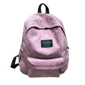 COZIME Simple Velvet Backpack Large Capacity Back Bag Unisex School For Teenagers Pink