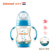 Keness Wide-diameter PPSU temperature-sensitive bottle 150ML Newborn anti-falling anti-flatulence with handle straw