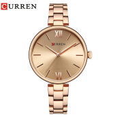 CURREN 9017 Women Watch New Quartz Top Brand Luxury Fashion Wristwatches Ladies Gift