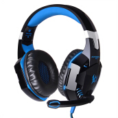 EACH G2000 Gaming Headset Stereo Sound 2.2m Wired Headphone Noise Reduction with Microphone for PC Game Blue