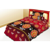 NYENYAK Manchester United Fitted Sheet - Red Red Sprei Rumbai 120 x 200 x 20 - 1 Bantal 1 Guling