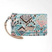 Sakroots Wristlet with Free Powerbank Turquoise Brave Beauti