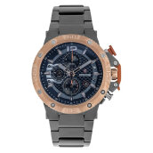 Expedition E 6751 MC BGRBA Chronograph Men Blue Dial Grey Stainless Steel Strap [EXF-6751-MCBGRBA]