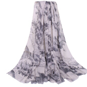 LAVEN pastoral style high quality Bali yarn printing women's long scarf