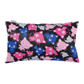 JOYLIVING Cushion Rectangular Kitty Fuchia 30 cm x 50 cm - Pink Black