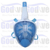 Promo Alat Selam Godive Next Generation Full Face Mask MF-003-LB Light Blue