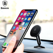 Baseus Magnetic Car Phone Holder For Samsung S9+S8 Xiaomi  Handphone Holder Stand 360 Degree Car Mount Phone Holder