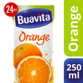 BUAVITA Orange Carton 250ml x 24pcs