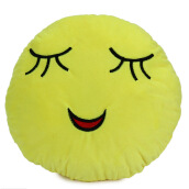 Aosen Cute 33cm Emoji Smiley Emotion Plush Cushion Pillow Doll Toy