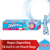 BAGUS Zipper Bag With Pouch 20's (18.5 x 23.5 cm)