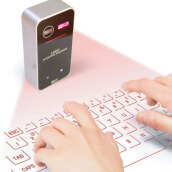 Hot Virtual Keyboard Bluetooth Laser Projection Keyboard With Mouse function For Tablet Computer English keyboard Drop Shipping Black/grey