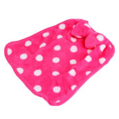 [OUTAD] Soft Bowknot Hanging Quick Dry Hands Towel Superabsorbent Kitchen Dish Cloth Hot Pink