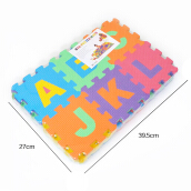 Jantens 36PCS DIY Puzzle Play Mat Baby EVA Foam Children Soft Developing Floor Playmat White