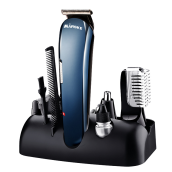 MARSKE 5 in 1 Multifunctional Electric Hair Clipper Nose Hair Trimmer Beard Rechargeable Epilator Blue
