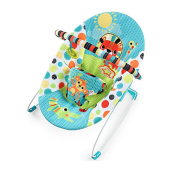 BRIGHT STARTS Vibrating Bouncer - Kaleidoscope Safari