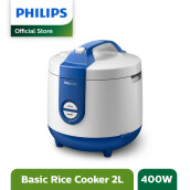 PHILIPS Rice Cooker 2 L HD3119/31 - Basic Blue