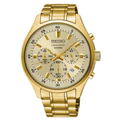 Seiko Chronograph SKS592P1 Men Champagne Dial Gold Stainless Steel Strap [SKS592P1]