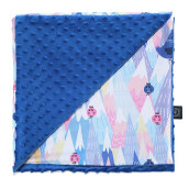 La Millou Minky Calming Light Blanket M - Mili Vanili - Electric Blue - XL084B Electric Blue M