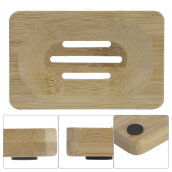 [OUTAD] Burly-wood Soap Storage Holder Natural Wooden Box Travel Rack Beige