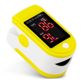Fingertip Pulse Oximeter with Easy-to-read Color Display for Home Use C101J0 Yellow
