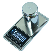 Jantens 500g/0.01g Electronic Scale Precision Portable Pocket LCD Digital Jewelry Scales Black 500g/0.01g