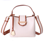 Keness F130 Bucket Bag Women PU Leather Shoulder Bags Brand Designer Ladies Crossbody messenger Bags Beige