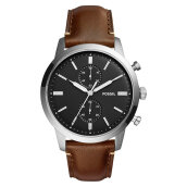 Fossil FS5280 Townsman Chronograph Black Dial Brown Leather Watch [FS5280]