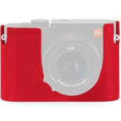 Leica Protector for Q Typ 116 Half Case Red Leather (19537) Red