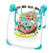 BRIGHT STARTS Portable Swing - Kaleidoscope Safari