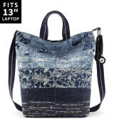 Sakroots Campus Tote Sling Bag Denim Peace