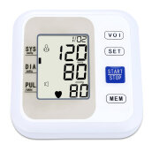 Upper Arm Style Electronic LCD Display Blood Pressure Monitor with Live Voice